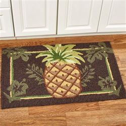 Welcoming Pineapple Accent Rug Brown 33 x 21