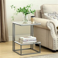 Aimee Accent Table Nickel