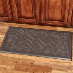 Backsplash Tile Comfort Floor Mat Chocolate 39 x 20