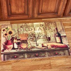 Olive Oil Sideboard Kitchen Comfort Mat Multi Warm 34 x 22