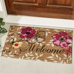 Floral Paradise Welcome Mat Multi Warm 30 x 18