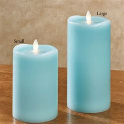 Coastal Breeze Flameless LED Candle Turquoise