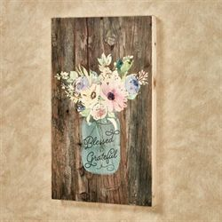 Blessed and Grateful Wall Plaque Multi Pastel