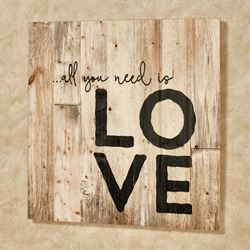 All You Need Is Love Wall Plaque Brown