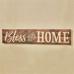 Bless This Home Wooden Wall Plaque Multi Earth