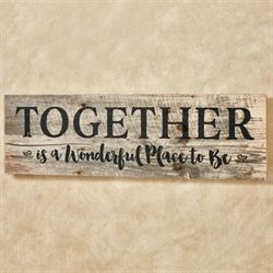 Together Wall Plaque Multi Earth