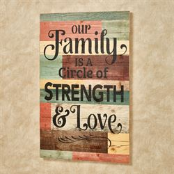 Our Family Wooden Wall Plaque Multi Warm
