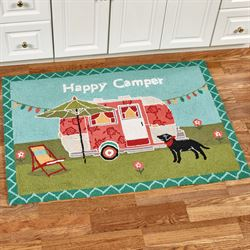 Happy Camper Accent Rug Multi Cool 47 x 34