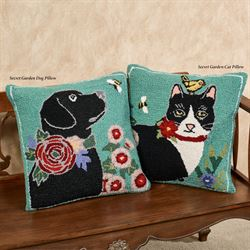 Secret Garden Dog Pillow Multi Cool 18 Square