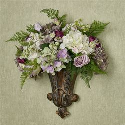 Grace Floral Medley Wall Pocket Purple