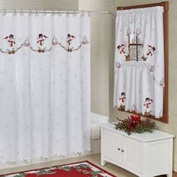 Wintertime Friends Shower Curtain White 70 x 72
