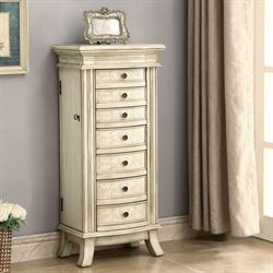 Francesca Jewelry Armoire Ivory