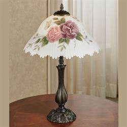 Brinley Floral Table Lamp Bronze Each with LED Bulb