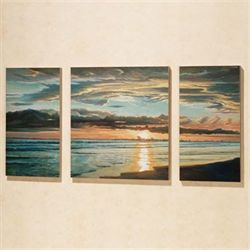 Quiet Skies Triptych Canvas Set  Set of Three