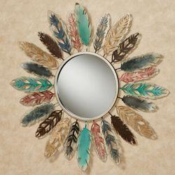 Feathered Mirror Wall Art Multi Earth