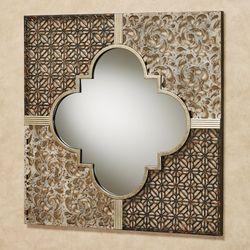 Ashon Quatrefoil Mirrored Metal Wall Art