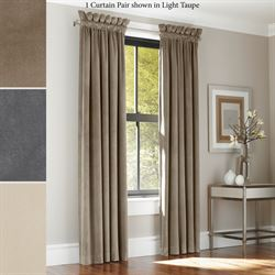 Chesire Wide Velvet Curtain Pair