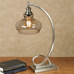 Freya Table Lamp Brushed Steel
