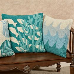 Scallop Shell Accent Pillow Multi Cool 18 Square