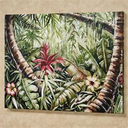 Tropical Forest II Canvas Wall Art Multi Cool