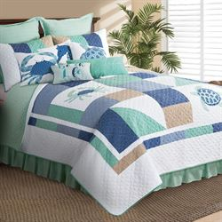 Macleay Island Patchwork Quilt Multi Cool