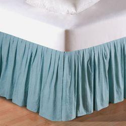 Middleton Gathered Bedskirt Aqua