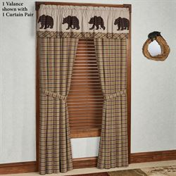 Wyatt Tailored Curtain Pair Multi Earth 80 x 84