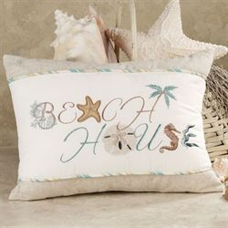 Beach House Tailored Pillow Aqua Blue 12 x 16