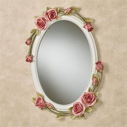 Rose Melody Oval Wall Mirror