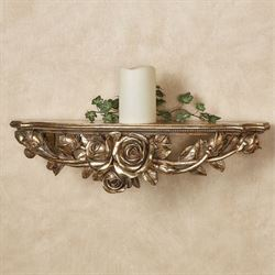 Rose Melody Wall Shelf Venetian Gold