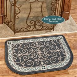 Eastly Hearth Rug Charcoal 35 x 22