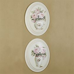 Emma Rose Wall Plaques Multi Pastel Set of Two