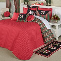 Peppermint Dreams Grande Bedspread Red