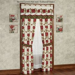 Holiday Traditions Scalloped Valance Light Cream 66 x 16