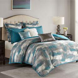 Graphix Comforter Bed Set Sapphire