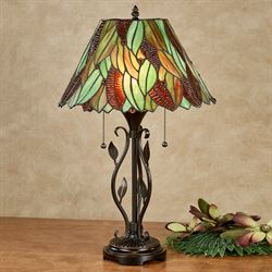 Charmant Alana Stained Glass Tropical Table Lamp