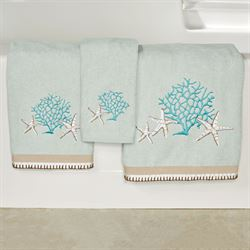 Beachcomber Bath Towel Set Celadon Bath Hand Fingertip