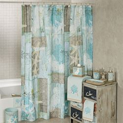 Beachcomber Shower Curtain Multi Cool 72 x 72