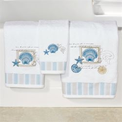 Island View Bath Towel Set White Bath Hand Fingertip
