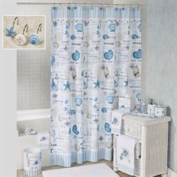 Island View Shower Curtain Blue 72 x 72