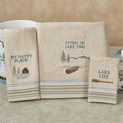 Lake House Bath Towel Set Haystack Bath Hand Fingertip