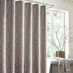 Sicily Shower Curtain Silver Gray 70 x 72