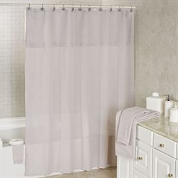 Sylvia Semi Sheer Shower Curtain Silver 72 x 72