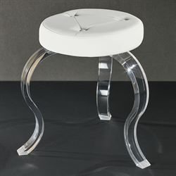 Urban Modern Vanity Stool Off White