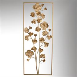 Oralie Flowering Wall Art Panel Gold