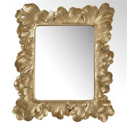 Golden Petals Accent Wall Mirror