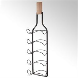 Langford Wall Wine Bottle Rack Black