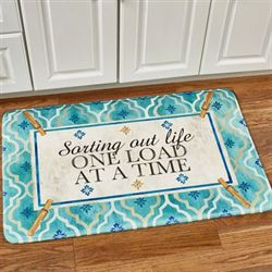 Sorting Out Life Rectangle Mat Turquoise 35 x 22
