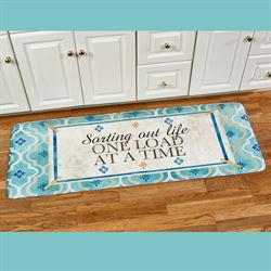Sorting Out Life Runner Mat Turquoise 55 x 20