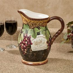 Gilded Wine Beverage Pitcher Multi Earth